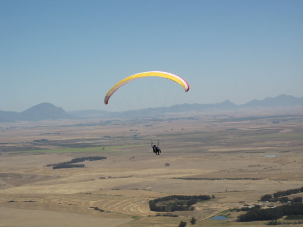 Tandem paragliding in Porterville South Africa with Cape Town Tandem Paragliding