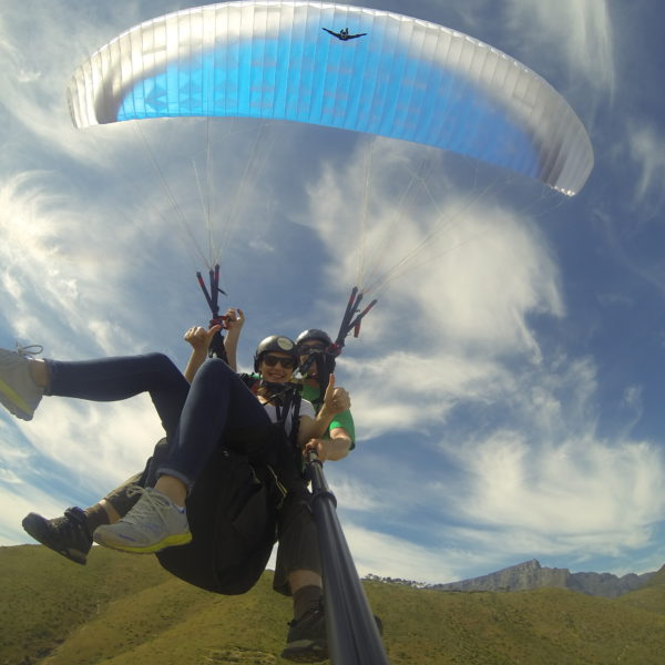 Paragliding from Signal Hill with Paula