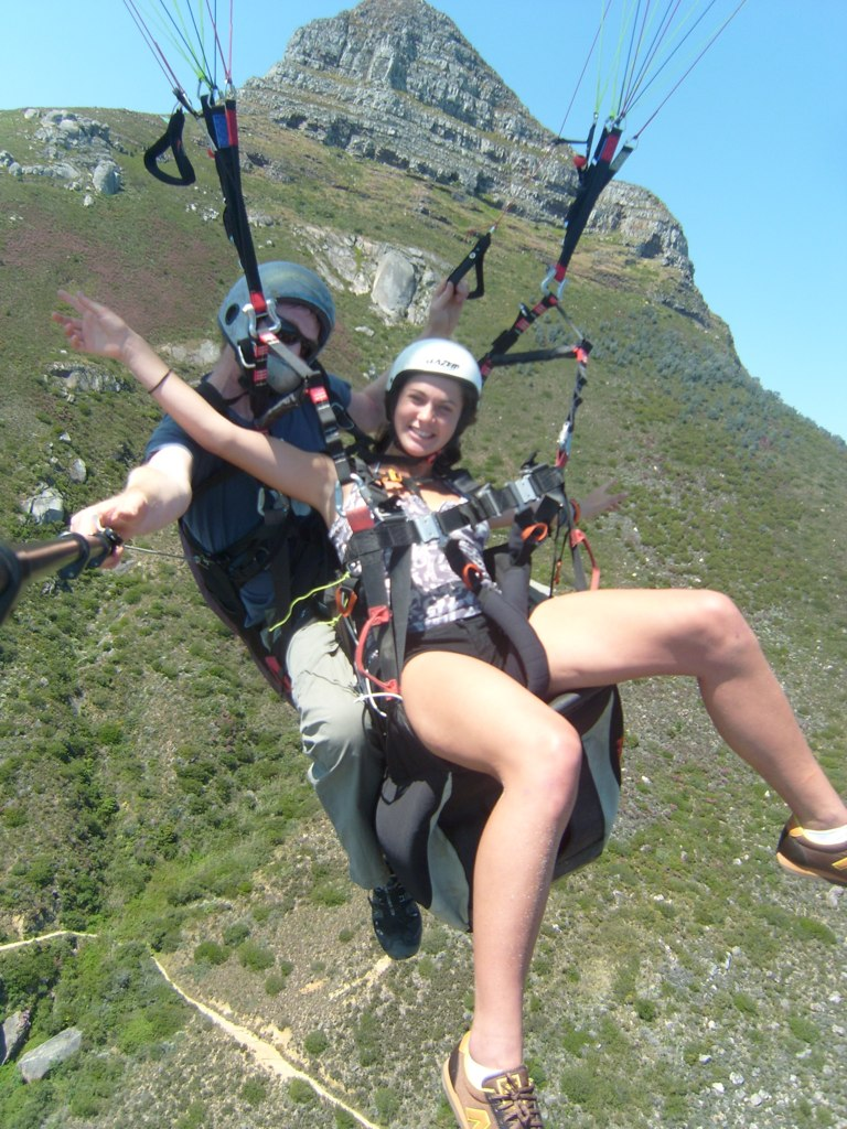 Tandem paragliding from Lion's Head