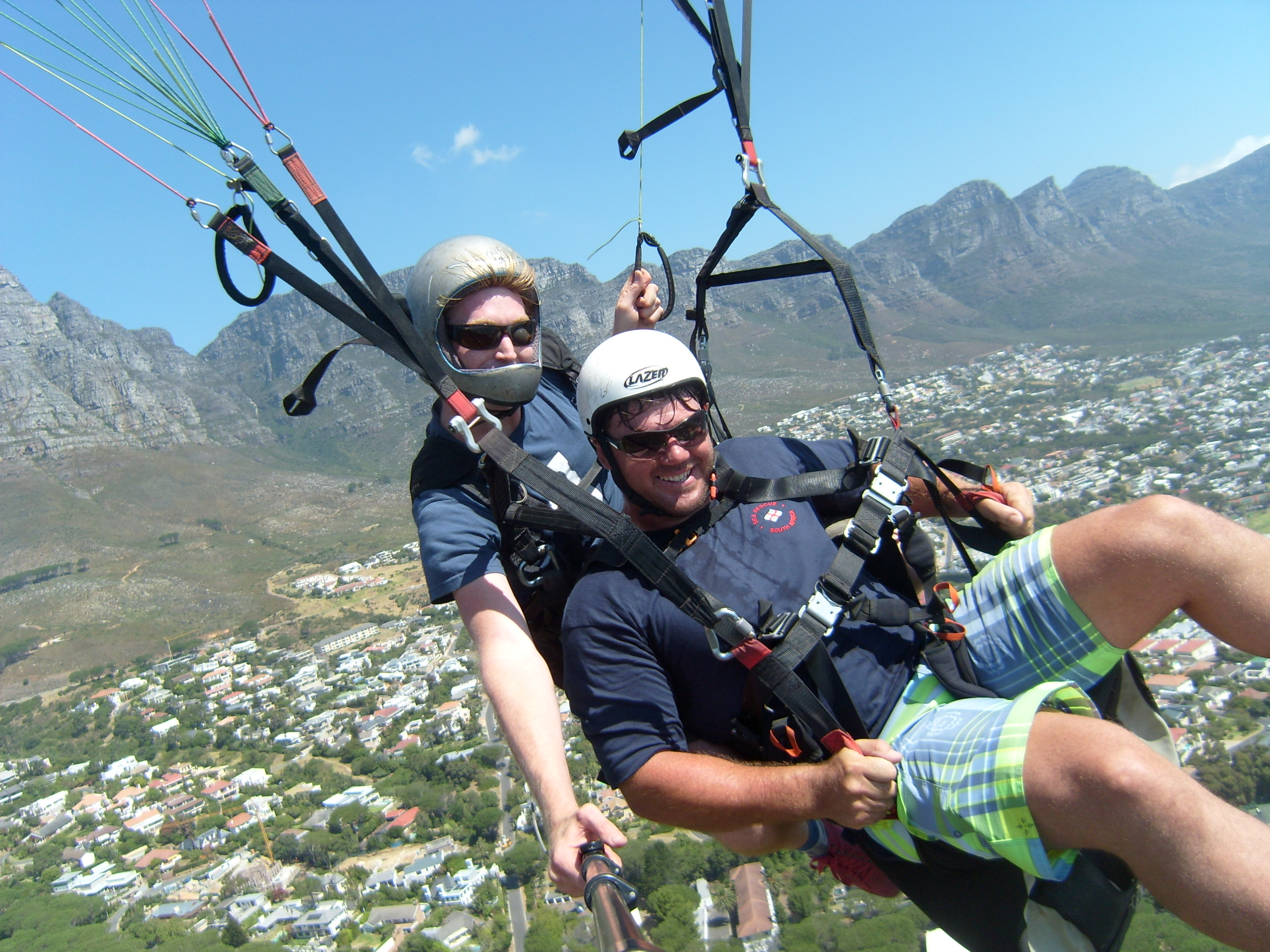 Paragliding from Lions Head with Twelve Apostles in the background
