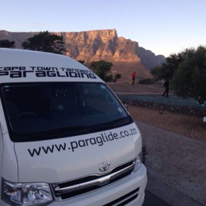 cape town tandem paragliding transfers