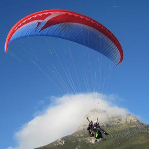 Tandem paragliding flight Cape Town