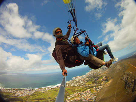 Paragliding in Hermanus with Cape Town Tandem Paragliding