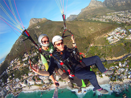 Paragliding from Lion's Head with Quin and Cape Town Tandem Paragliding